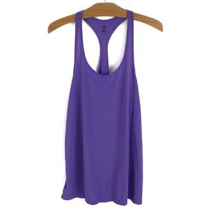 Z by Zella Racerback Athletic Workout Tank Violet